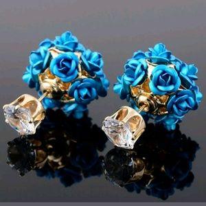 Jewelry - Rose & Crystal Rhinestone Studs
